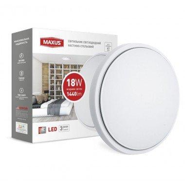 Светильник  LCL MAXUS C-03 18W 4100K круг - описание, характеристики, отзывы