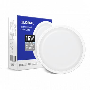 Светильник накладной LED Global Bulkhead 15W 5000K круг  IP65 - описание, характеристики, отзывы