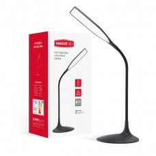 Лампа настольная светодиодная DKL 6W   (MAXUS)  4100K BK Square