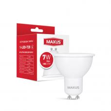 Лампа светодиодная MAXUS 1-LED-720 MR16 7W 4100K 220V GU10