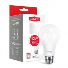 Лампа MAXUS  LED A65 12W  3000K 220V E27