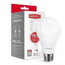 Лампа MAXUS  LED A70 15W 4100K 220V E27