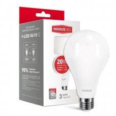 Лампа MAXUS  LED A80 20W 4100K 220V E27