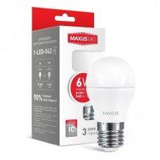 Лампа MAXUS  LED G45 F 6W 4100K 220V E27