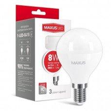 Лампа MAXUS  LED G45 F 8W 3000K 220V E14