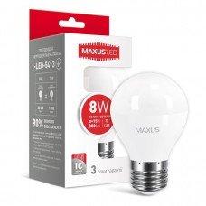 Лампа MAXUS  LED G45 F 8W 3000K 220V E27