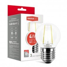Лампа MAXUS  LED G45 FM 4W 4100K 220V E27