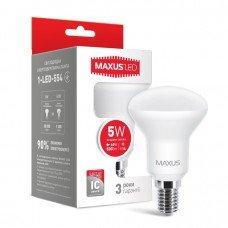 Лампа MAXUS  LED R50 5W 4100K 220V E14