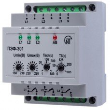 Универсальный автоматический электронный переключатель фаз ПЭФ-301 (НОВАТЕК-ЭЛЕКТРО)