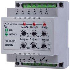 Трехфазное реле напряжения и контроля фаз РНПП-301 (НОВАТЕК-ЭЛЕКТРО)