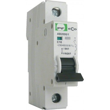 Автоматический выключатель ПРОМФАКТОР ECO АВ2000 1P C 6A 6кА - описание, характеристики, отзывы