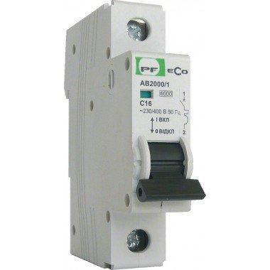 Автоматический выключатель ПРОМФАКТОР ECO АВ2000 1P C 63A 6кА - описание, характеристики, отзывы