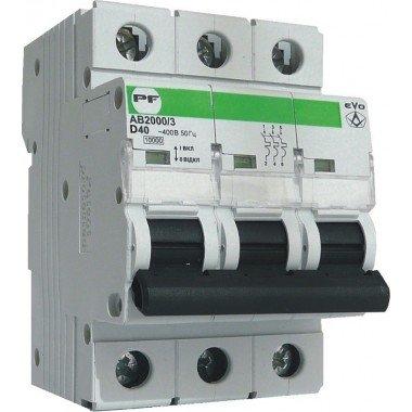 Автоматический выключатель ПРОМФАКТОР АВ2000 EVO 3Р D 40A 6кА - описание, характеристики, отзывы