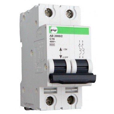Автоматический выключатель ПРОМФАКТОР АВ2000 2Р C 25A 6кА - описание, характеристики, отзывы