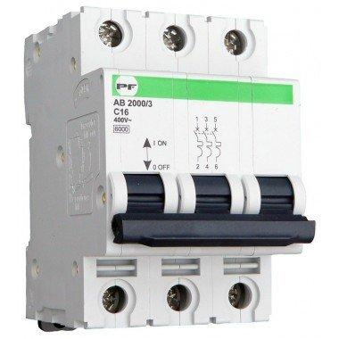 Автоматический выключатель ПРОМФАКТОР АВ2000 3Р C 16A 6кА - описание, характеристики, отзывы