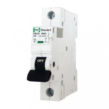 """Модульный автоматический выключатель FB2-63 STANDART 6kА, """"C"""", 1P, 20А ПРОМФАКТОР - описание, характеристики, отзывы"""