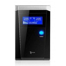 Источник бесперебойного питания с правильной синусоидой  RITAR RTSW-500VA/300W LCD, под внешнюю АКБ 12В