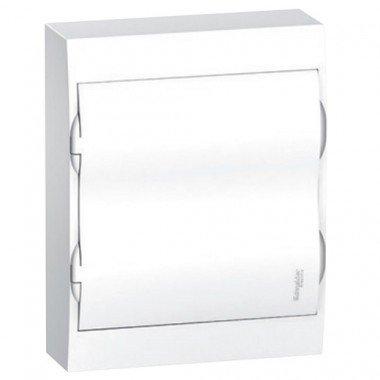 Щит пластиковый навесной белая дверь 2 ряда/24М+2КК, Schneider Electric EZ9E212P2S - описание, характеристики, отзывы