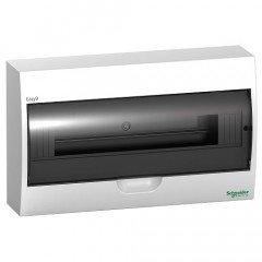 Щит пластиковый навесной дымчатая дверь 1 ряд/18М+2КК, Schneider Electric EZ9E118S2S