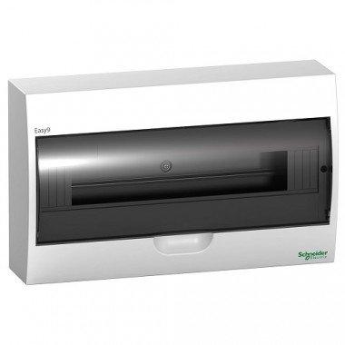 Щит пластиковый навесной дымчатая дверь 1 ряд/18М+2КК, Schneider Electric EZ9E118S2S - описание, характеристики, отзывы