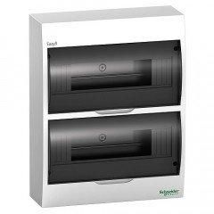 Щит пластиковый навесной дымчатая дверь 2 ряда/24М+2КК, Schneider Electric EZ9E212S2S