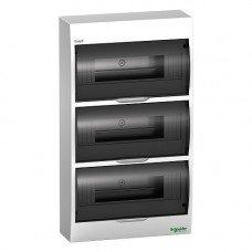 Щит пластиковый навесной дымчатая дверь 3 ряда/36М+2КК, Schneider Electric EZ9E312S2S