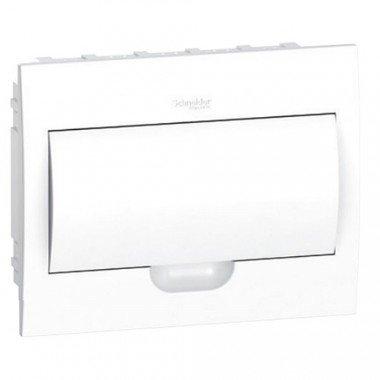 Щит пластиковый врезной белая дверь 1 ряд/12М+2КК, Schneider Electric EZ9E112P2F - описание, характеристики, отзывы