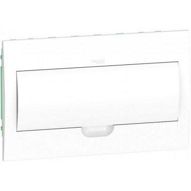 Щит пластиковый врезной белая дверь 1 ряд/18М+2КК, Schneider Electric EZ9E118P2F - описание, характеристики, отзывы