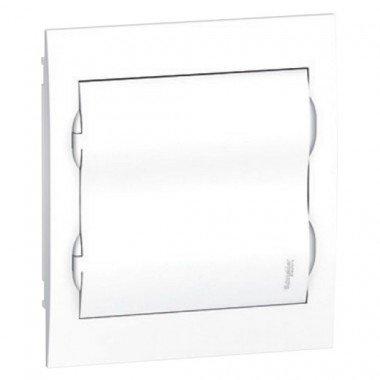 Щит пластиковый врезной белая дверь 2 ряда/24М+2КК, Schneider Electric EZ9E212P2F - описание, характеристики, отзывы