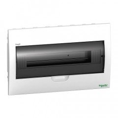 Щит пластиковый врезной дымчатая дверь 1 ряд/18М+2КК, Schneider Electric EZ9E118S2F