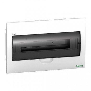 Щит пластиковый врезной дымчатая дверь 1 ряд/18М+2КК, Schneider Electric EZ9E118S2F - описание, характеристики, отзывы