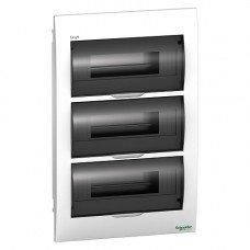 Щит пластиковый врезной дымчатая дверь 3 ряда/36М+2КК, Schneider Electric EZ9E312S2F