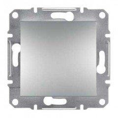 ASFORA Выключатель одноклавишный алюминий, Schneider electric