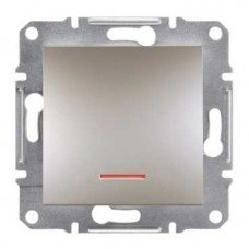 ASFORA Одноклавишный выключатель с подсветкой бронза, Schneider electric