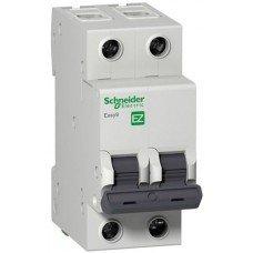 EZ9 Автоматический выключатель, 2Р, 20А, Х-КА С, Schneider electric