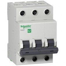EZ9 Автоматический выключатель, 3Р, 20А, Х-КА С, Schneider electric