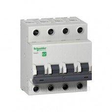 EZ9 Автоматический выключатель, 4Р, 20А, Х-КА С, Schneider electric
