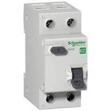 EZ9 Дифференциальный автоматический выключатель 1Р+N 25А 30мА ТИП АС, Schneider electric