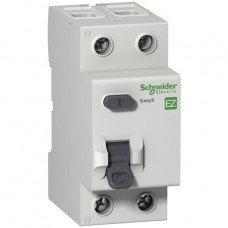 EZ9 Дифференциальный выключатель, с защитой ПО НАПР. 40A 2Р 100мА А, Schneider electric