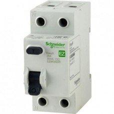 EZ9 Дифференциальный выключатель, 2Р; 0,01А; 25А; ТИП АС, Schneider electric