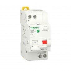 Дифференциальный автоматический выключатель RESI9 6kA 1P+N 16A C 30mA АC, Schneider electric