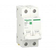 Автоматический выключатель, RESI9 6kA 2P 16A C, Schneider electric