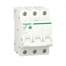 Автоматический выключатель, RESI9 6kA 3P 10A C, Schneider electric