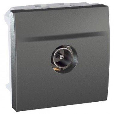 Розетка TV, одиночная, штырьевой разъем, 2м, Schneider Electric Unica, графит - описание, характеристики, отзывы