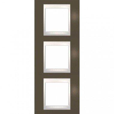 Рамка 3-постовая вертикальная Schneider Electric Unica Plus,какао/слоновая кость - описание, характеристики, отзывы
