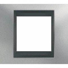 Рамка 1-постовая  Schneider Electric Unica ТОР, хром матовый/графит