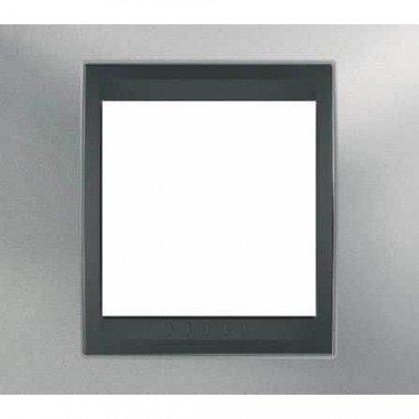 Рамка 1-постовая  Schneider Electric Unica ТОР, хром матовый/графит - описание, характеристики, отзывы