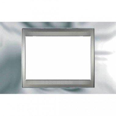 Рамка 3-модульная  Schneider Electric Unica ТОР, хром глянцевый/алюминий - описание, характеристики, отзывы