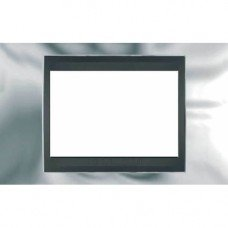 Рамка 3-модульная  Schneider Electric Unica ТОР, хром глянцевый/графит