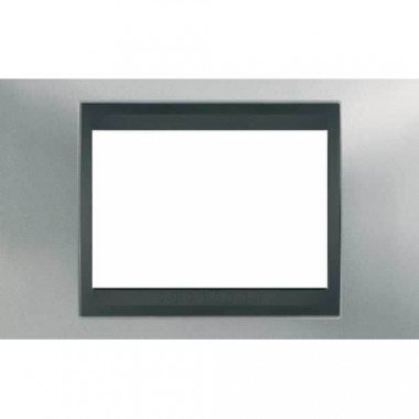 Рамка 3-модульная  Schneider Electric Unica ТОР, хром матовый/графит - описание, характеристики, отзывы